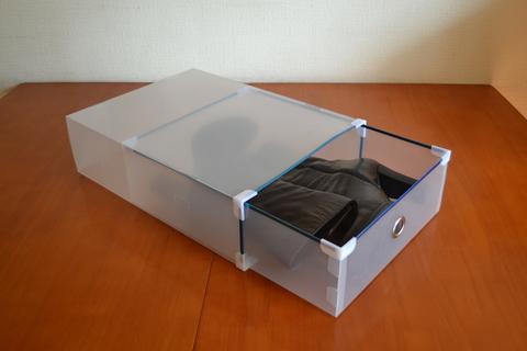 40*29*11 см пластиковая прозрачная коробка для сапог с выдвижным ящиком