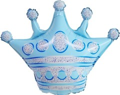 К Фигура, Корона, Голубой, 30''/76 см 1 шт.