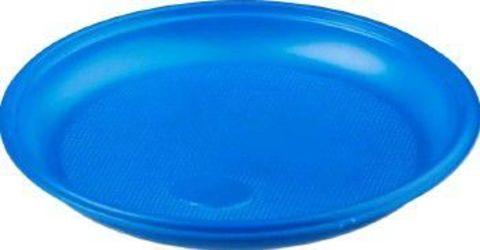 Одноразовая тарелочка пластиковая десертная ЭКО  (синяя) D=165 мм