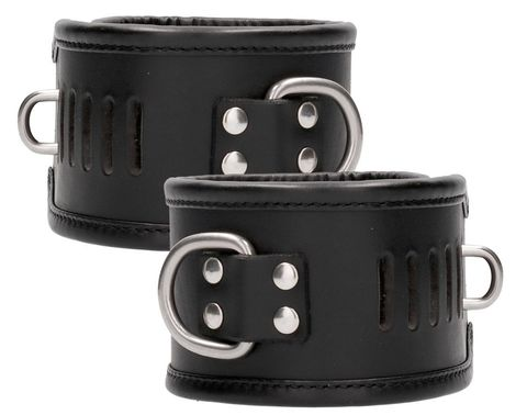 Черные поножи Restraint Ankle Cuff With Padlock