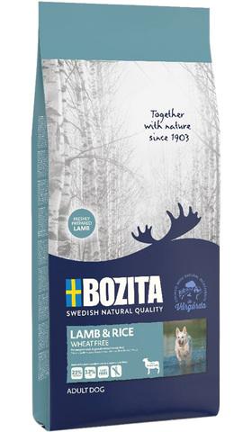 Bozita Lamb & Rice Wheat Free 23/12 Сухой корм для взрослых собак с чувствительным пищеварением с ягненком (Без пшеницы)