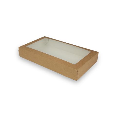 Коробка крафт с окошком 260х150х40 мм
