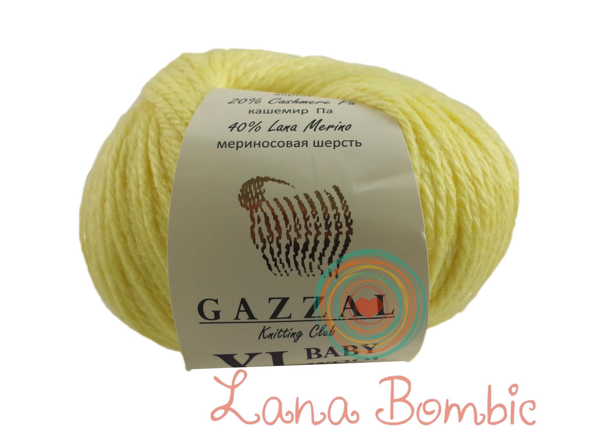 Пряжа Gazzal Baby Wool XL лимонный 833
