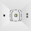 Аварийные светильники антипанического освещения открытых пространств ONTEC D M1, M2 – вид спереди крупным планом