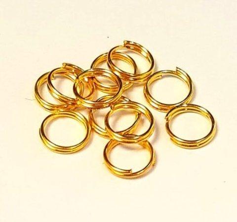 Кольцо двойное 8 мм золото цена за 10 шт