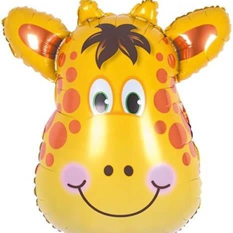 Фольгированный шар «Голова Жирафа», 86см
