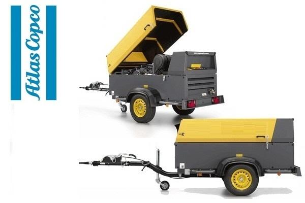 Компрессор дизельный Atlas Copco XAS 137 Generator на шасси с регулируемым дышлом и генератором