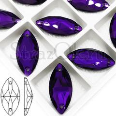 Стразы пришивные стеклянные Navette Imperial Purple фиолетовый