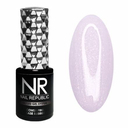 12 База камуфлирующая Rubber Nail Republic, 10 мл с шиммером