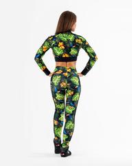 Женская укороченная кофта Nebbia High-energy crop jacket 564 SQ.green