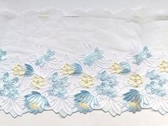 Вышивка на сетке, ЛЕВАЯ, 22 см, голубой/желтый, (Арт: VS-1026), м