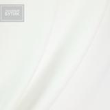 Креп полиэстеровый с эластаном бело-молочного цвета