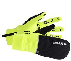 Перчатки Craft Hybrid Weather black-lime