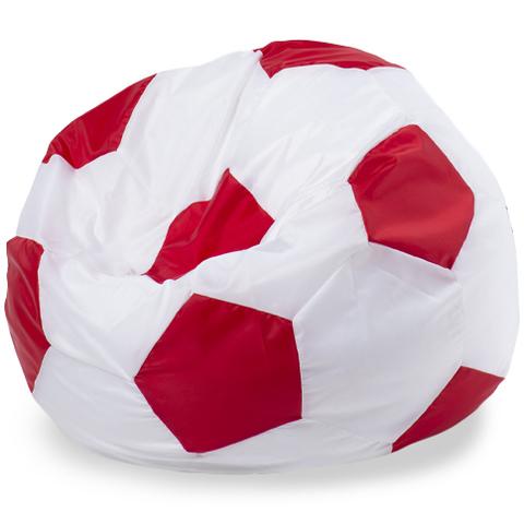 Пуффбери Внешний чехол Кресло-мешок мяч  L, Оксфорд Белый и красный