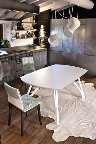 Стол WONDER (20.48) 170/250*100*75 см (M089/C150) Bontempi (обеденный, кухонный, для гостиной), Материал каркаса: Металл, Цвет каркаса: Алюминий М 089, Материал столешницы: Стекло закаленное, Цвет столешницы: Экстра-белый глянцевый С150, Цвет: Белый