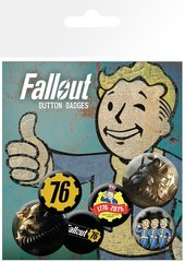 Набор значков «Fallout 76 T51b»