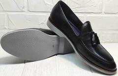 Модные лоферы туфли кожаные мужские Luciano Bellini 91178-E-212 Black.