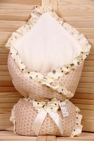 Зимний конверт-одеяло Lace какао