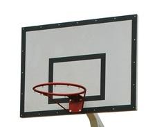 Щит баскетбольный тренировочный фанерный 18 мм, 1200х900мм. на металлической раме
