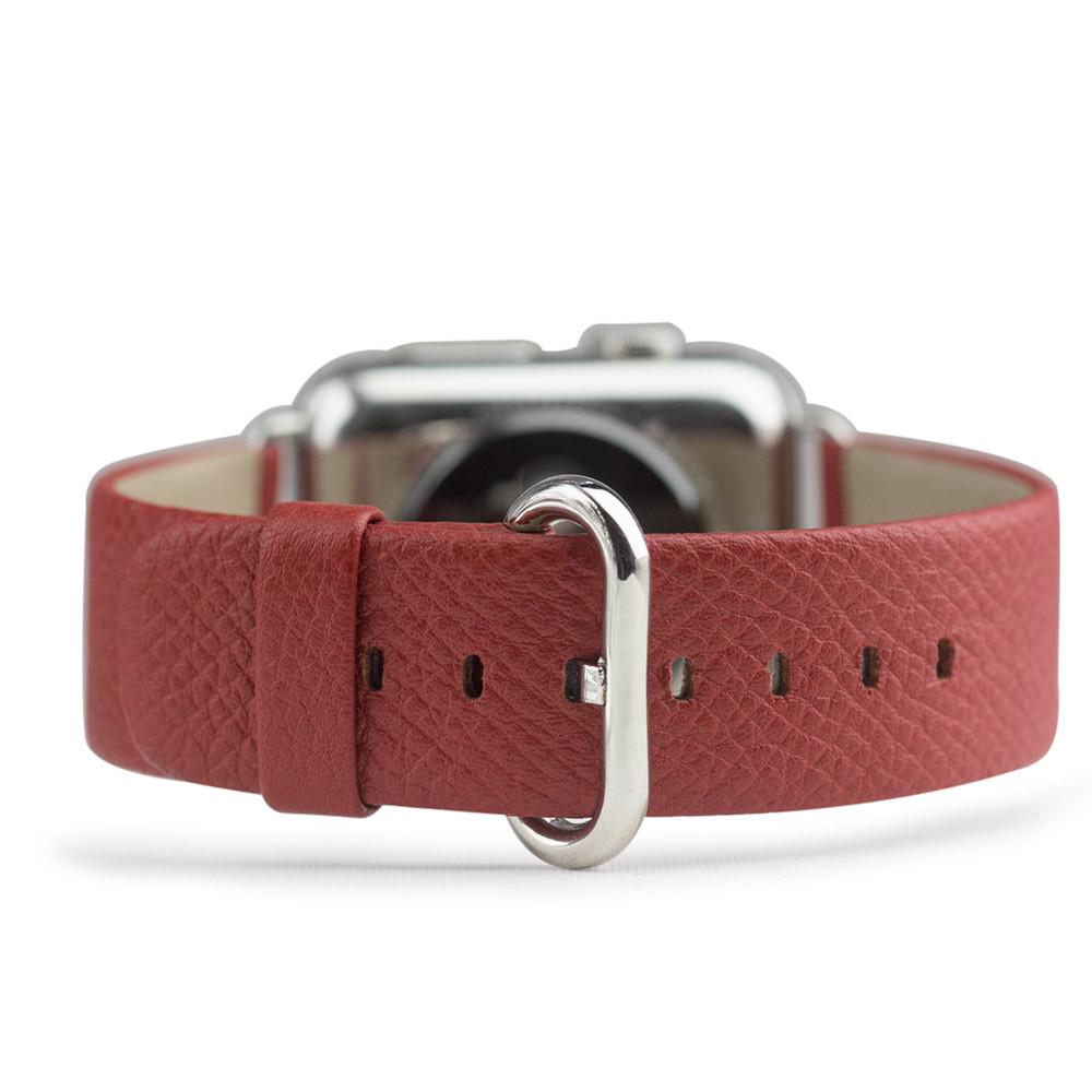 Ремешок для Apple Watch 38/40mm ST Classic из натуральной кожи теленка, цвета кетчуп