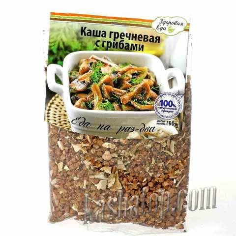 Каша гречневая с грибами 'Здоровая еда', 100г