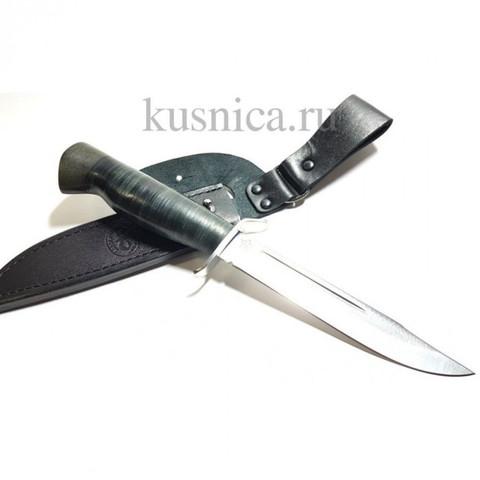 Нож Штрафбат гравировка ФСБ, 95Х18, кожа, Златоуст