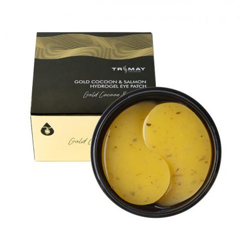 Trimay Gold Cocoon & Salmon Hydrogel Eye Patch универсальные питательные патчи с коконом золотого шелкопряда и экстрактом икры лосося