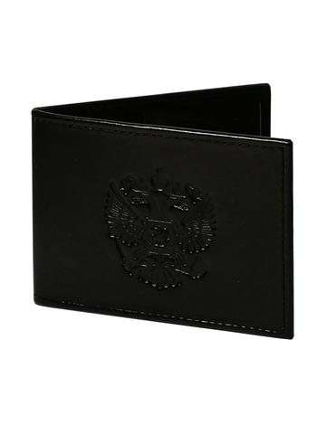 Обложка для удостоверения «Герб». Цвет черный