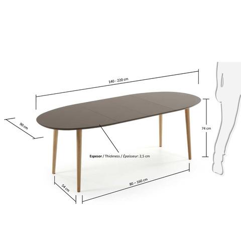 Стол Oakland коричневый раздвижной