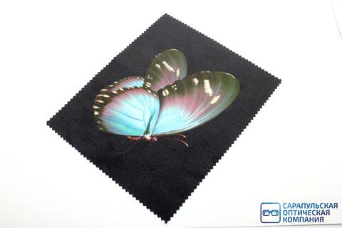 Салфетка для протирания очков из микрофибры в индивидуальной упаковке с рисунком С21