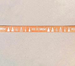 Лента декоративная НОВОГОДНЯЯ с дизайном 1,5 см * 2 м.
