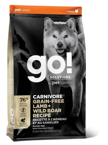 GO! CARNIVORE - для для щенков и собак c ягненком и мясом дикого кабана