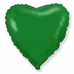 Фольгированный шар Сердце Зеленый 18