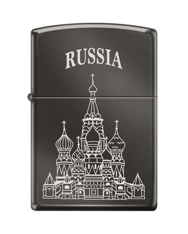 Зажигалка ZIPPO Classic Black Ice® ™Собор Василия Блаженного  ZP-150 ST BASIL