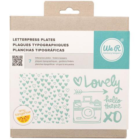 Формы для леттерпрессинга Lifestyle Letterpress Plates -  Amy Tan Finder's Keepers