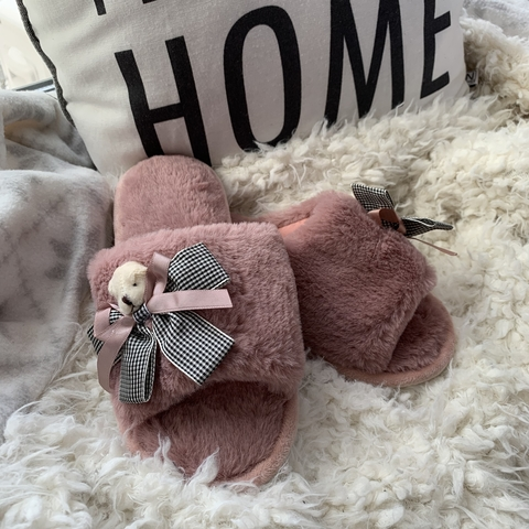 Тапочки Teddy bear /dusty pink/ 40-41