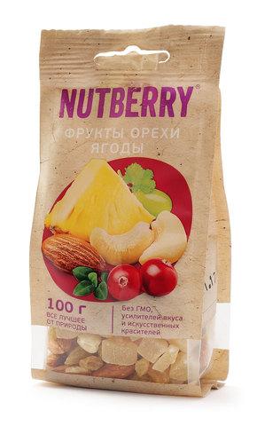 NUTBERRY Смесь орехи фрукты ягоды 100 г