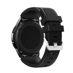 Силиконовый ремешок для Samsung Gear S3/Galaxy Watch 46 Fohuas Silicon Band 22мм (черный)