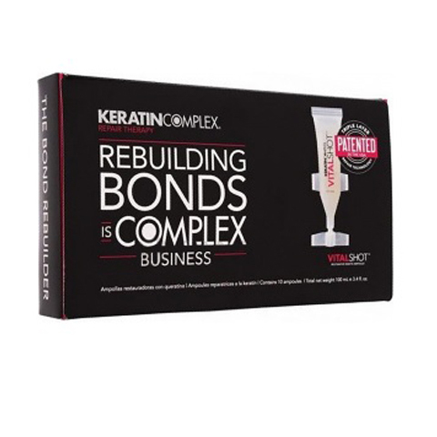 Keratin Complex: Ампулы восстанавливающие глубокого действия для волос (VitalShot Restorative Keratin Ampoules), 10мл*10