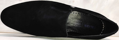 Черные туфли мужские классические Ikoc 3410-7 Black Suede.