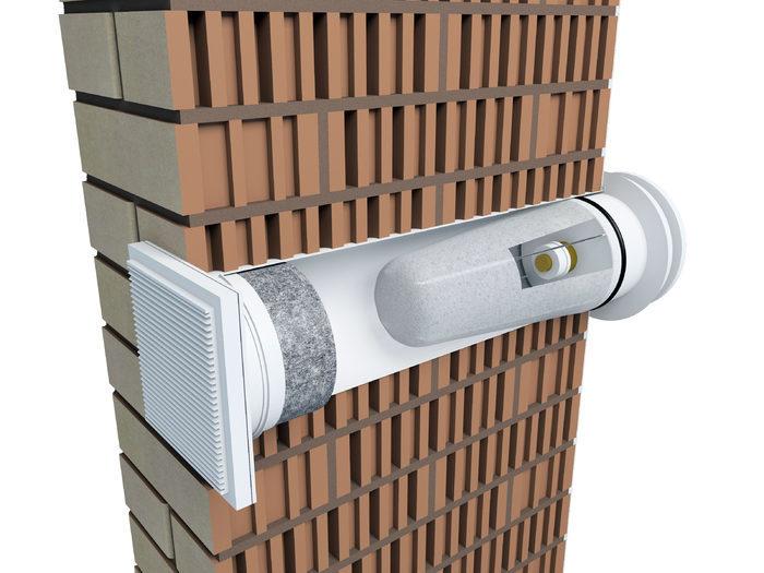 Приточный стеновой вентиль VILPE® VELCO