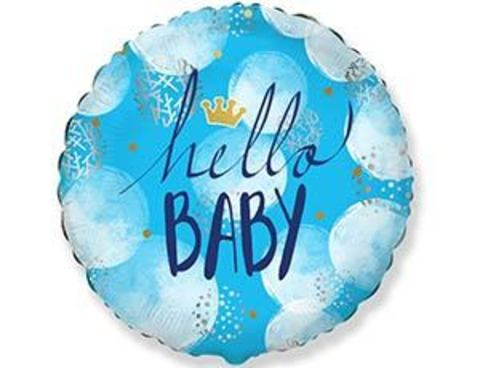 Фольгированный шар HELLO BABY Малыш