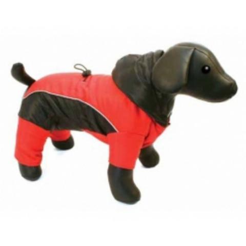 5615192 DEZZIE Комбинезон д/собак теплый красно-черный 30см