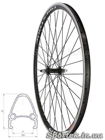 Переднє велосипедне колесо 28 дюймів з подвійним алюмінієвим ободом