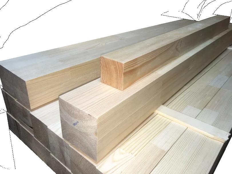 Мебельный брус - сосна сращенная 100 мм х 100 мм х 1200 мм