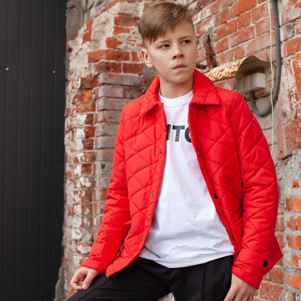 Підліткова демісезонна червона куртка на хлопчика