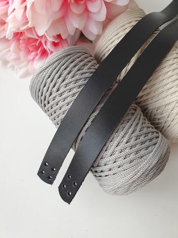 Ручки для сумок пришивные (2 шт),  60 см цвет Черный