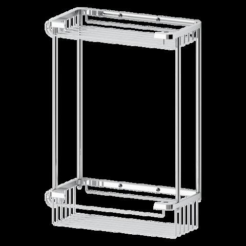 Полочка-решетка 2-х уровневая прямоугольная 20х20 см RYNA   RYN020 FBS