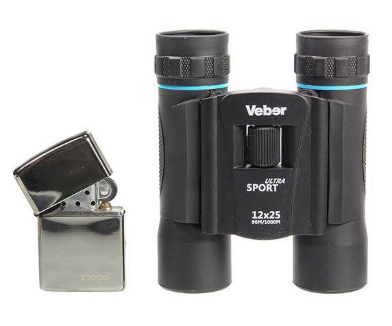 Бинокль Veber Sport БН 12x25 silber / blue - фото 3