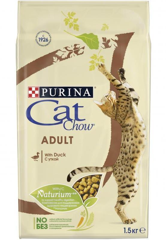 Purina Cat Chow Корм для взрослых кошек, Purina Cat Chow, с уткой утка.jpg